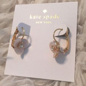 NWT Kate spade Pansy earrings.